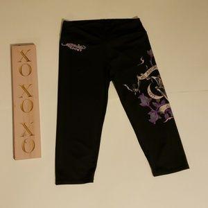 ED HARDY SPORT black leggings